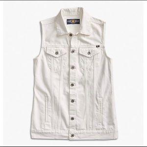 Lucky Brand white denim jacket XS